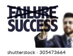 Small photo of Business man pointing the text: Failure Success