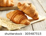 tasty croissants with spikelets ...