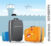 illustration scenario set of... | Shutterstock .eps vector #305488994