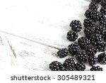Beautiful Ripe Blackberry On...