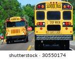 School Bus On Rural Road...