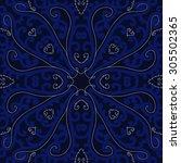 circular   pattern of delicate... | Shutterstock .eps vector #305502365