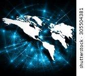 best internet concept of global ... | Shutterstock . vector #305504381