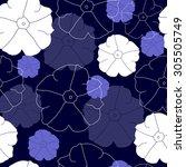 floral seamless pattern | Shutterstock .eps vector #305505749