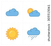 4 Flat Modern Weather Icons