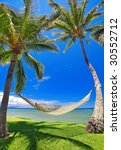 tropical vacation  palm trees... | Shutterstock . vector #30552712