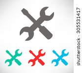 settings icon   wrench and... | Shutterstock .eps vector #305531417