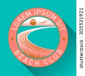 generic beach emblem with space ... | Shutterstock .eps vector #305531921