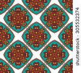 seamless decorative pattern... | Shutterstock .eps vector #305532374