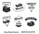 Set Of Classic Muscle Car Logo...