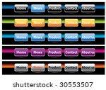 buttons for website  vector    Shutterstock .eps vector #30553507