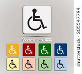 vector icon disabled  | Shutterstock .eps vector #305547794