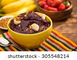 acai fruit amazon in the bowl | Shutterstock . vector #305548214