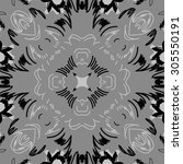 circular   pattern of floral ... | Shutterstock . vector #305550191