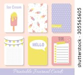set of bright hand drawn cards...   Shutterstock .eps vector #305565605