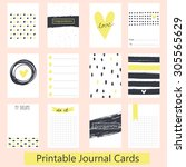 set of vintage creative cards... | Shutterstock .eps vector #305565629