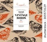 Vintage Bird Cardboard Design...