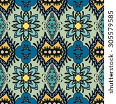vector floral and geometric... | Shutterstock .eps vector #305579585