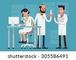 modern flat design female and... | Shutterstock .eps vector #305586491