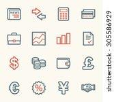 finance web icons set | Shutterstock .eps vector #305586929