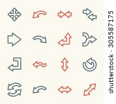 arrows web icons set | Shutterstock .eps vector #305587175