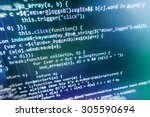 software developer programming... | Shutterstock . vector #305590694