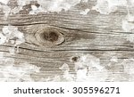 wooden background in snow... | Shutterstock . vector #305596271