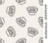 noodle doodle seamless pattern...   Shutterstock .eps vector #305599199