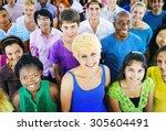 diverse ethnic friendship... | Shutterstock . vector #305604491