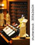 wine cellar cabinet in luxury... | Shutterstock . vector #305626634
