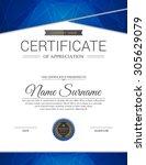 vector certificate template. | Shutterstock .eps vector #305629079