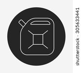 gasoline line icon   Shutterstock .eps vector #305633441