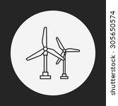 wind energy line icon | Shutterstock .eps vector #305650574