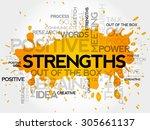 strengths word cloud  business...   Shutterstock .eps vector #305661137
