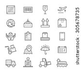 logistics icons line | Shutterstock .eps vector #305678735