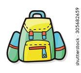 bag color doodle  | Shutterstock .eps vector #305682659