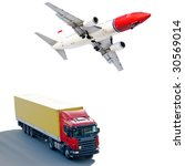 land and air shipping | Shutterstock . vector #30569014