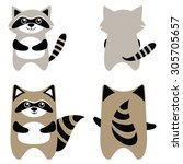 raccoon. vector illustration | Shutterstock .eps vector #305705657