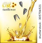 oil sunflower | Shutterstock .eps vector #305706521