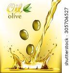 olive oil  | Shutterstock .eps vector #305706527