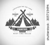 retro vector vintage camp label ... | Shutterstock .eps vector #305715494