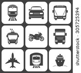 simple monochromatic transport... | Shutterstock .eps vector #305725394