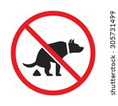 no dog pooping sign isolated on ... | Shutterstock .eps vector #305731499