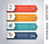 arrow infographic template.... | Shutterstock .eps vector #305737487