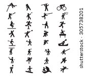 sports athletics icon set | Shutterstock .eps vector #305738201