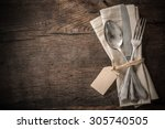 Vintage Silverware With An...