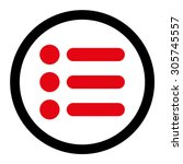 items raster icon. this rounded ...