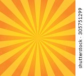 sun sunburst pattern. retro... | Shutterstock .eps vector #305751299