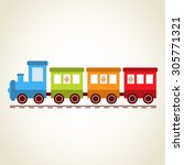 trains and baby | Shutterstock .eps vector #305771321