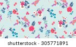 seamless floral pattern | Shutterstock .eps vector #305771891